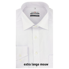MarVelis MarVelis strijkvrij overhemd Comfort Fit wit extra lange mouw, New Kent