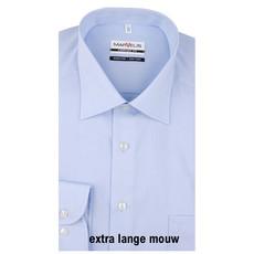 MarVelis MarVelis strijkvrij overhemd Comfort Fit blue extra lange mouw, New Kent