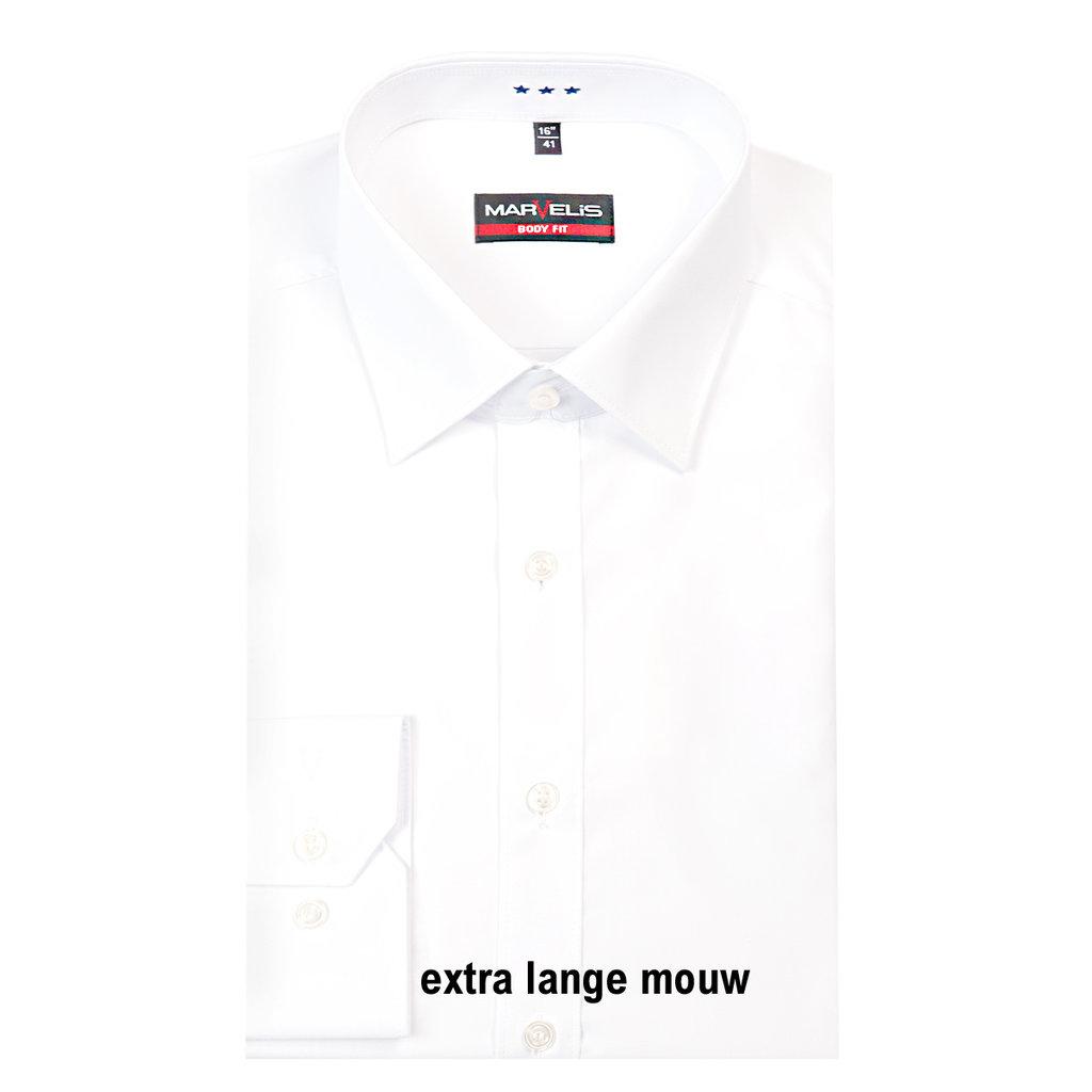 MarVelis MarVelis overhemd extra lange mouw Body Fit wit, New York Kent