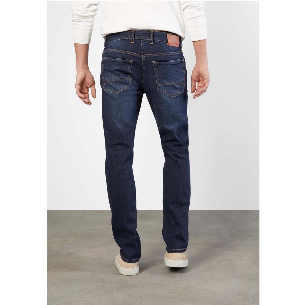 MAC Jeans MAC Arne Pipe Workout Denimflexx, Dark Blue Authentic Used 3D Buffies