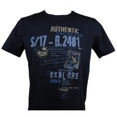 MarVelis MarVelis T-shirt donkerblauw met print