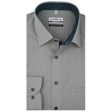 MarVelis MarVelis strijkvrij overhemd  zacht groen met contrast Comfort Fit, New Kent kraag