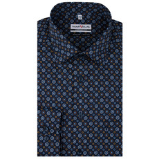 MarVelis MarVelis strijkvrij overhemd  print Comfort Fit, New Kent kraag