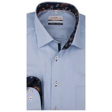 MarVelis MarVelis strijkvrij overhemd lichtblauw met contrast Comfort Fit, New Kent kraag