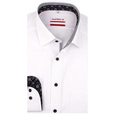 MarVelis MarVelis strijkvrij overhemd  wit met contrast Modern Fit, New Kent kraag