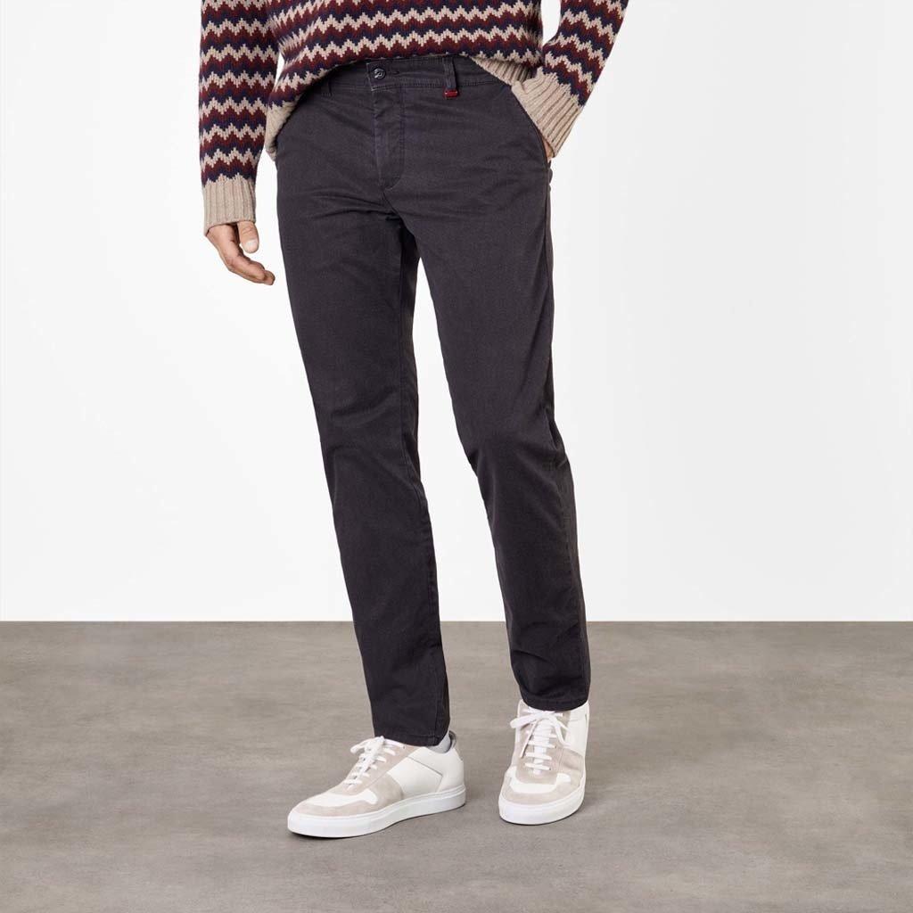 MAC Jeans MAC Lennox Melange Gabardine, Black Printed