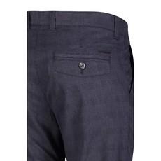 MAC Jeans MAC Lennox Melange Gabardine, Nautic Blue Check