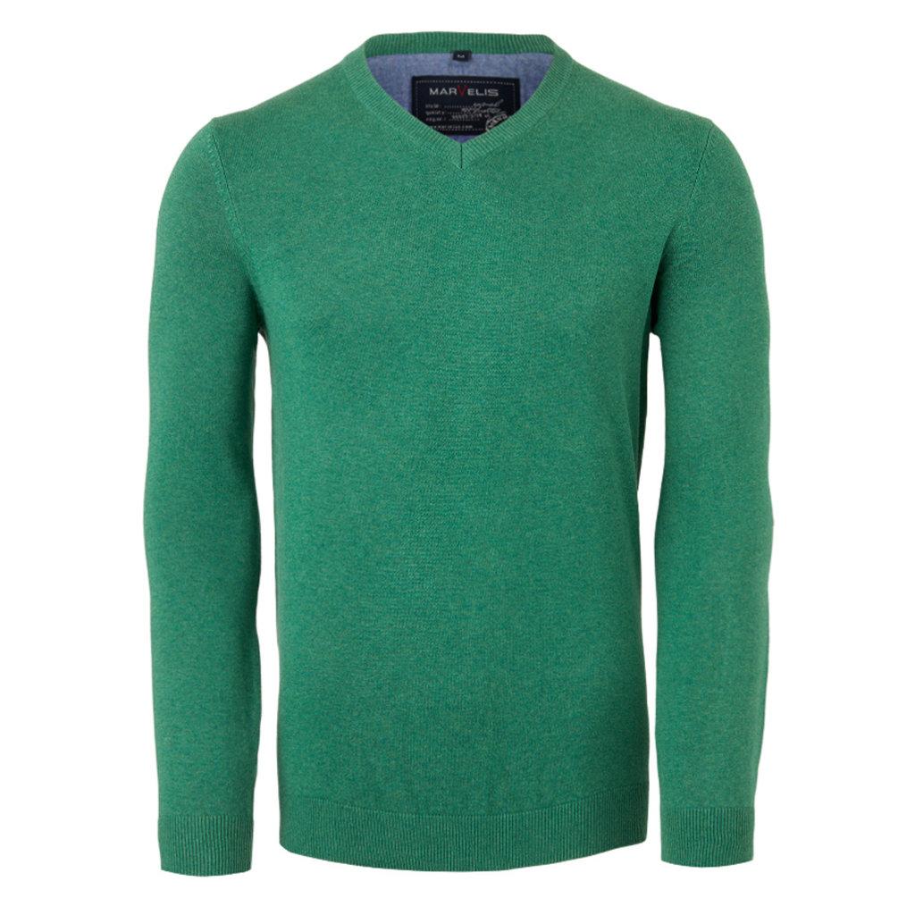 MarVelis MarVelis pullover groen melange
