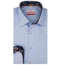 MarVelis MarVelis strijkvrij overhemd  blue met contrast Modern Fit, New Kent kraag