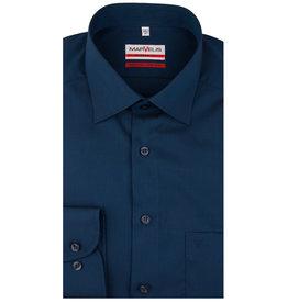 MarVelis MarVelis strijkvrij overhemd  donkerblauw Modern Fit, New Kent kraag