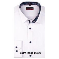 MarVelis MarVelis overhemd wit met extra lange mouw Body Fit, New York Kent kraag