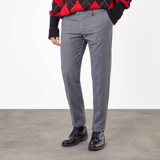 MAC Jeans MAC Lennox Ceramica Wool Look, Steel Blue Herringbone