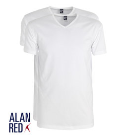 AlanRed AlanRed Oklahoma stretch 2-pack V-neck body fit white