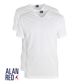 AlanRed AlanRed Vermont 2-pack thin V-neck regular fit white