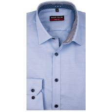 MarVelis MarVelis overhemd lichtlauw  motief Body Fit, New York Kent kraag