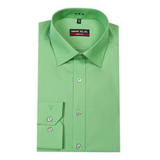 MarVelis MarVelis overhemd groen Body Fit, New York Kent kraag