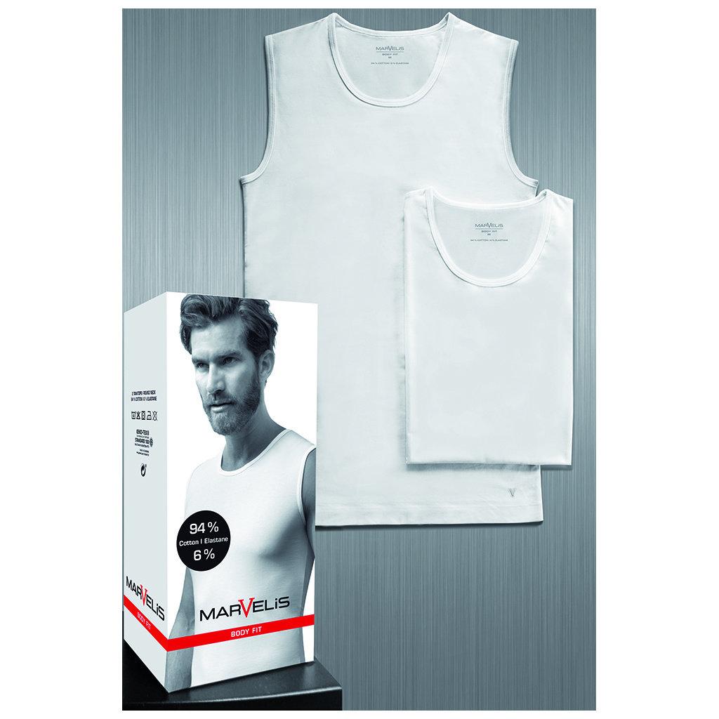 MarVelis Marvelis Body Fit T-shirt wit, tanktop