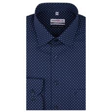 MarVelis MarVelis strijkvrij overhemd donkerblauw met  print, Comfort Fit