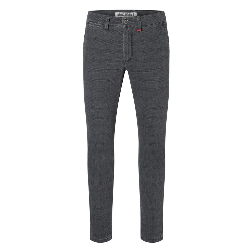 MAC Jeans MAC Lennox Printed Flex Gabardine, Nautic Blue Check