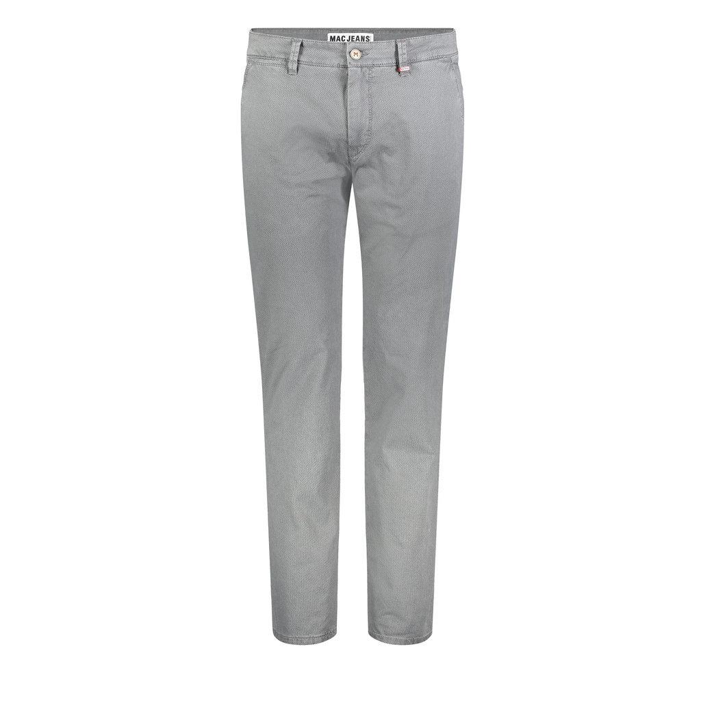 MAC Jeans MAC Lennox Printed Flex Gabardine, Steel Blue Printed