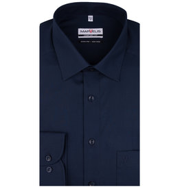 MarVelis MarVelis strijkvrij overhemd donkerblauw Comfort Fit, New Kent kraag