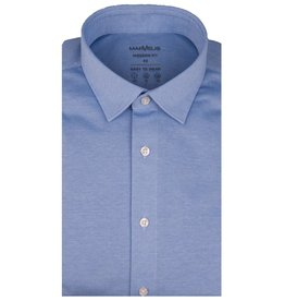 MarVelis MarVelis Jersey overhemd lichtblauw Modern Fit, New Kent kraag