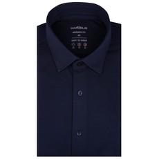 MarVelis MarVelis Jersey overhemd donkerblauw Modern Fit, New Kent kraag