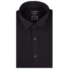 MarVelis MarVelis Jersey overhemd zwart Modern Fit, New Kent kraag