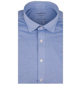MarVelis MarVelis Jersey overhemd lichtblauw Body Fit, New Kent kraag