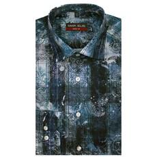 MarVelis MarVelis Body Fit overhemd blauw design, New Kent