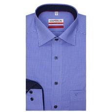 MarVelis MarVelis strijkvrij overhemd Modern Fit blauw-wit geruit, New Kent