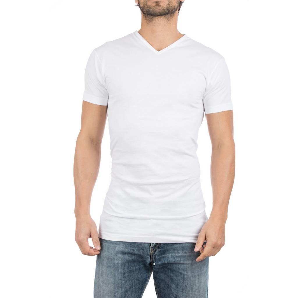 AlanRed AlanRed Vermont Long 2-pack thin V-neck regular fit white, 5 cm longer