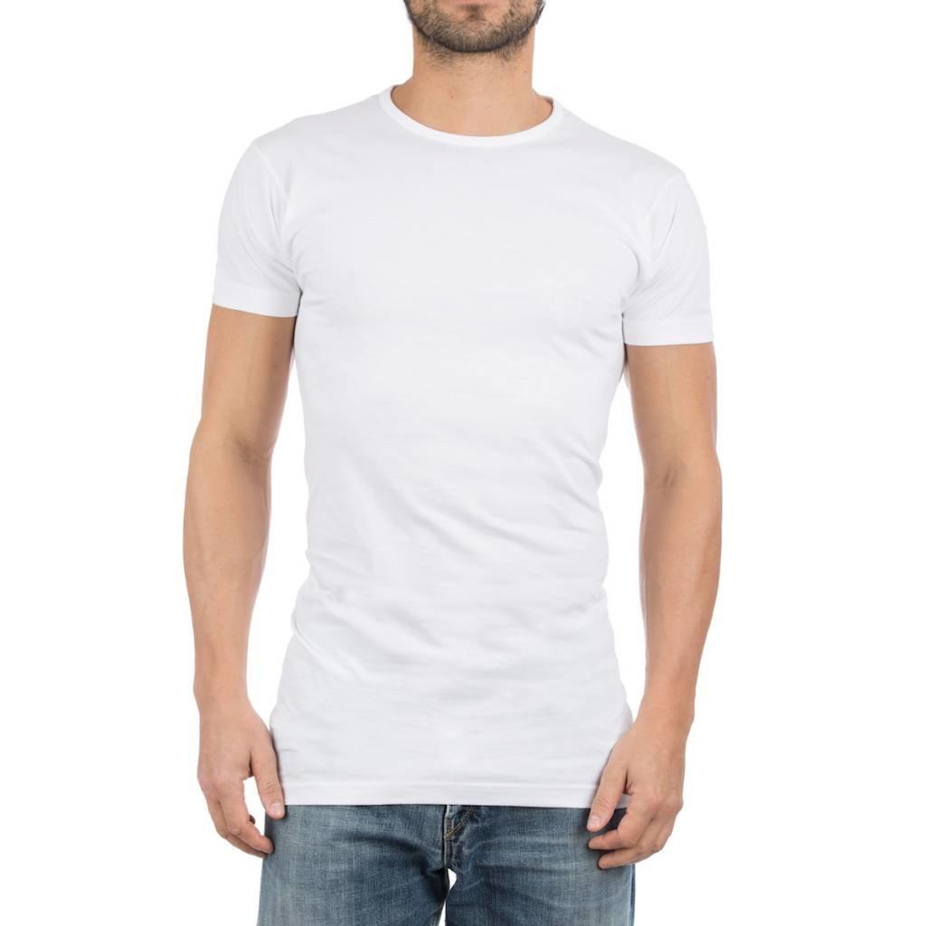 AlanRed AlanRed Derby Long 2-pack thin O-neck regular fit white, 5 cm longer body