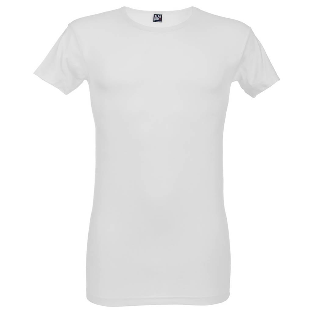 AlanRed AlanRed Ottawa Long Body2-pack O-neck stretch body fit white