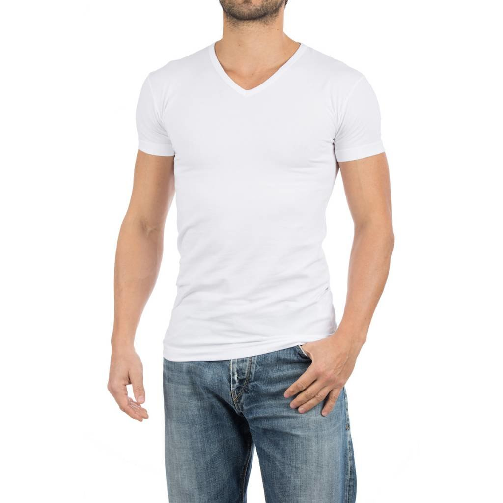 AlanRed AlanRed Oklahoma stretch 2-pack V-neck body fit white