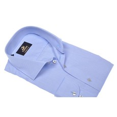 Culture Culture Modern Fit blue. Dobby, spread collar. New kent kraag