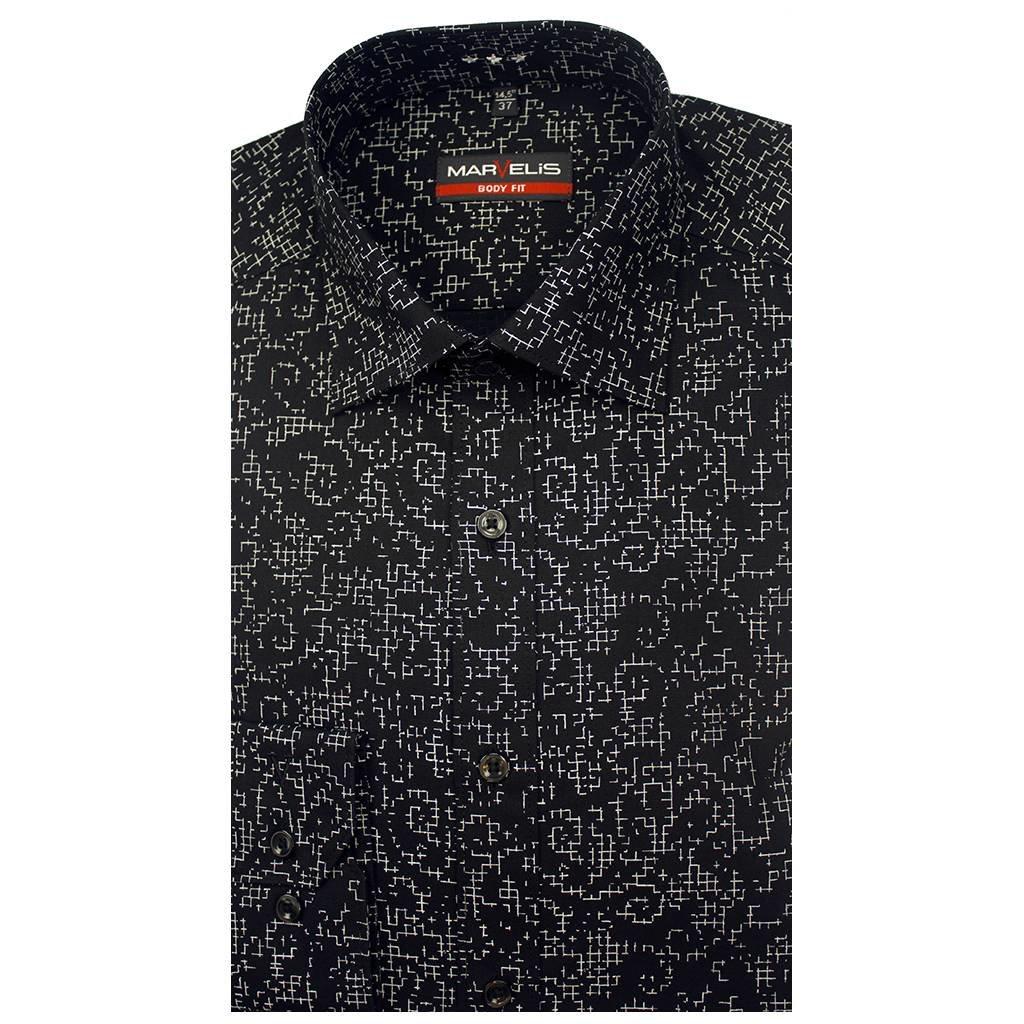 MarVelis MarVelis overhemd Body Fit zwart, New York Kent