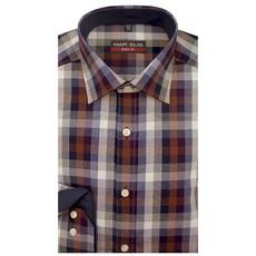 MarVelis MarVelis overhemd Body Fit geblokt design, New Kent kraag.