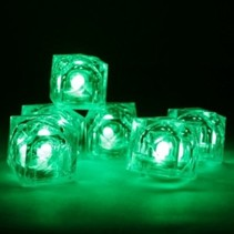 Green Light Up Ice Cubes