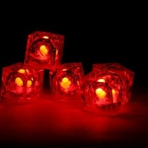 Red Light Up Ice Cubes