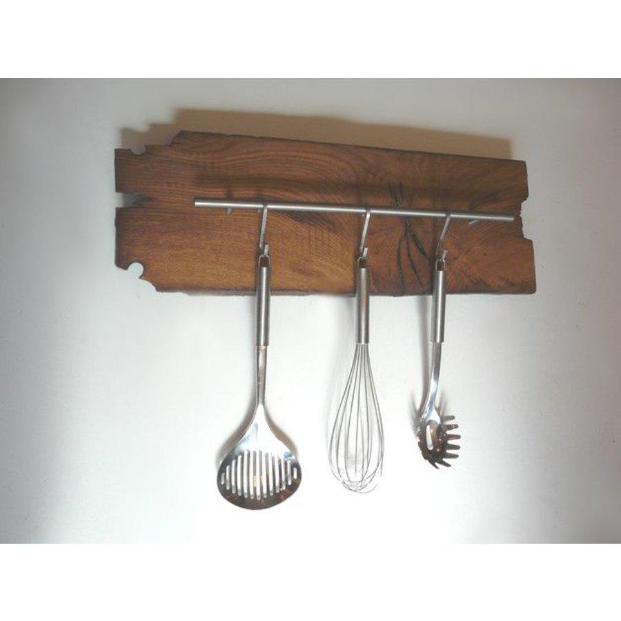 Küchenleiste aus uraltem Fachwerkbalken-1