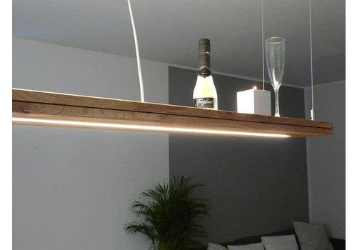 Peka Ideen Hängelampe Holz Eiche geölt mit Ober und Unterlicht