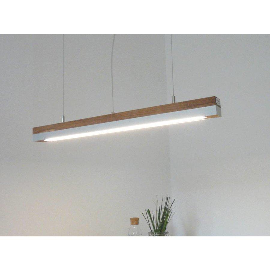 LED Hängelampe 80 cm Eiche geölt  Alublende-1
