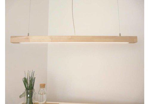 Peka Ideen Hängelampe Holz Buche mit Ober- und Unterlicht 120 cm