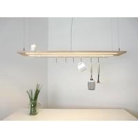 thumb-Esstischlampe Küchenlampe  Holz Buche-1