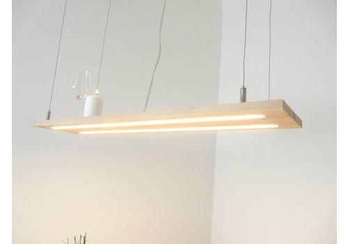 Peka Ideen Hängeleuchte Holzlampe Buche Doppel Led Zeile