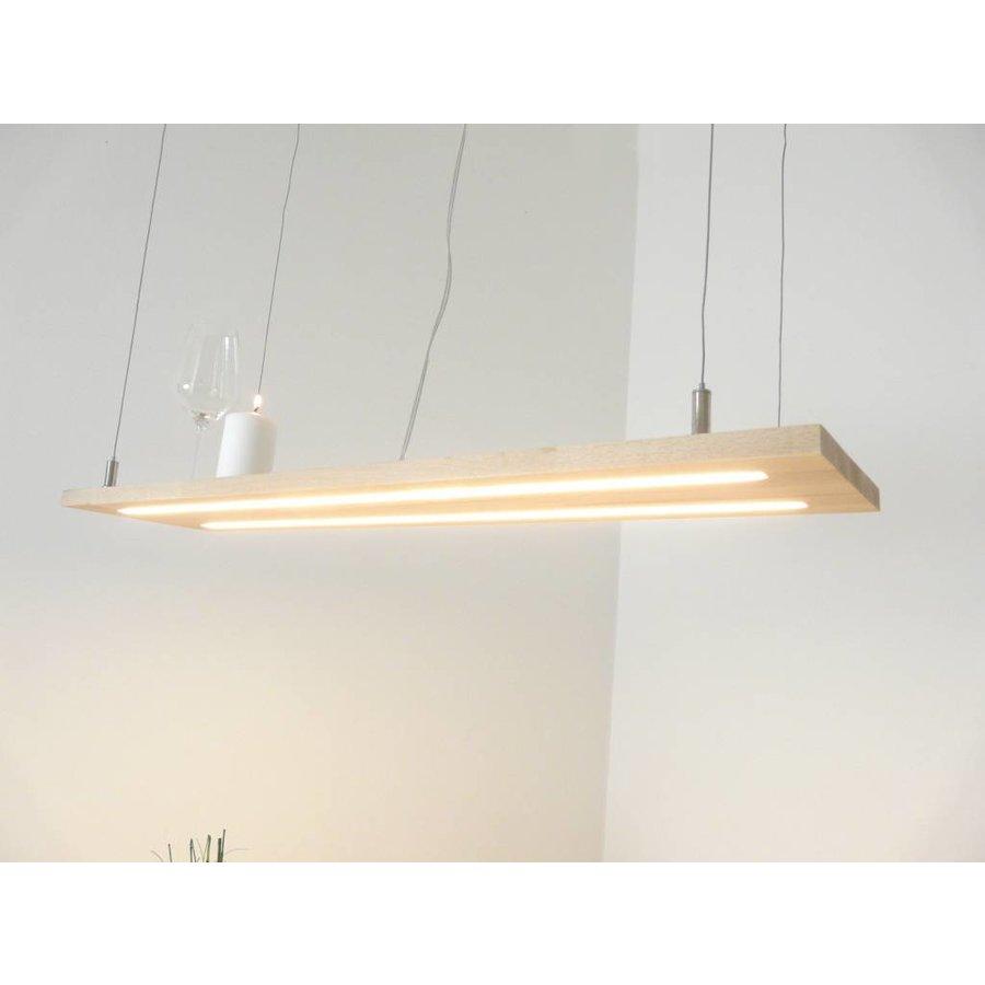 Hängeleuchte Holzlampe Buche Doppel Led Zeile-1