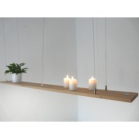 thumb-Hängeregal Leuchte Holz Buche kaufen-1