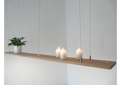 Peka Ideen Hängeregal Leuchte Holz Buche