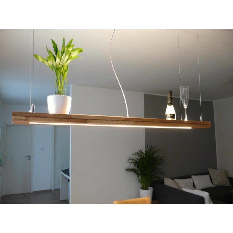 Hängelampe Holz Eiche geölt mit Ober und Unterlicht-5
